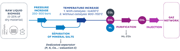 The hydrothermal gasification process