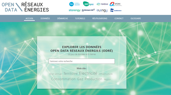 Site internet Open Data Réseaux Energies